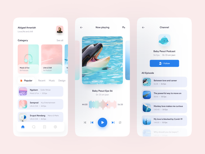 PodChess - Podcast Mobile App follow likes podcasts podcasting popular shot podcast clean ui clean mobile ui design freelance ui freelancer app uiux dribbble