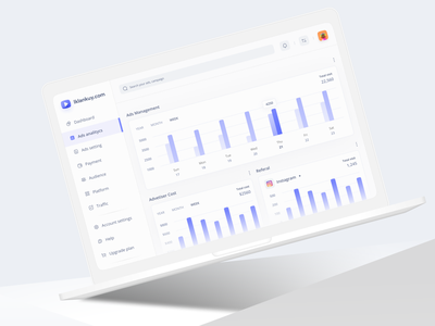Iklankuy - Advertisment Management Dashboard - Part 2 clean design clean clean ui design ui freelance freelancer app uiux dribbble