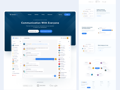 Kumpulo - Landing Page user interface clean ui landing page design freelance ui freelancer app uiux dribbble