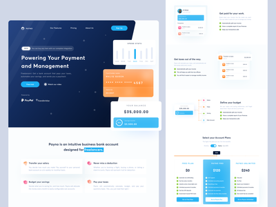 Payno - Payment Managment Landing Page payment management managment payment landing page landing app uiux dribbble