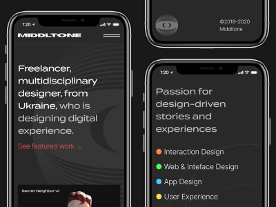Middltone website mobile view. logo design ui ux website web motion mobile ui mobile design middltone mobile responsive