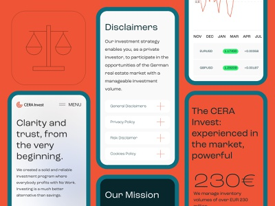 CERA Invest GmbH — Mobile version typogaphy branding middltone corporate design ux ui web responsive website
