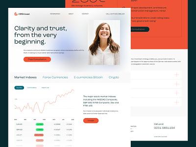 CERA Invest GmbH — Mainpage Design branding typography middltone corporate design ux ui web responsive website