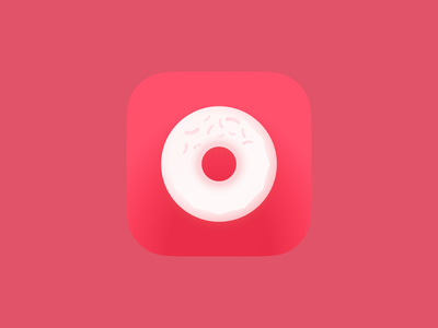 Donut App Icon menu delivery application screen home mobile app ios donut icon