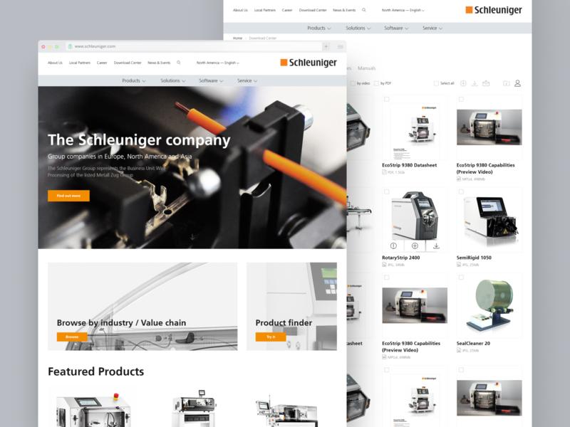 Schleuniger website company business corporate web responsive ui ux process uxresearch ux design global