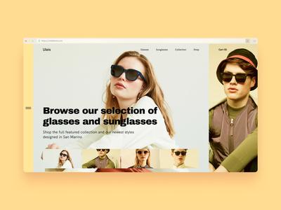Shop Concept Hero Section