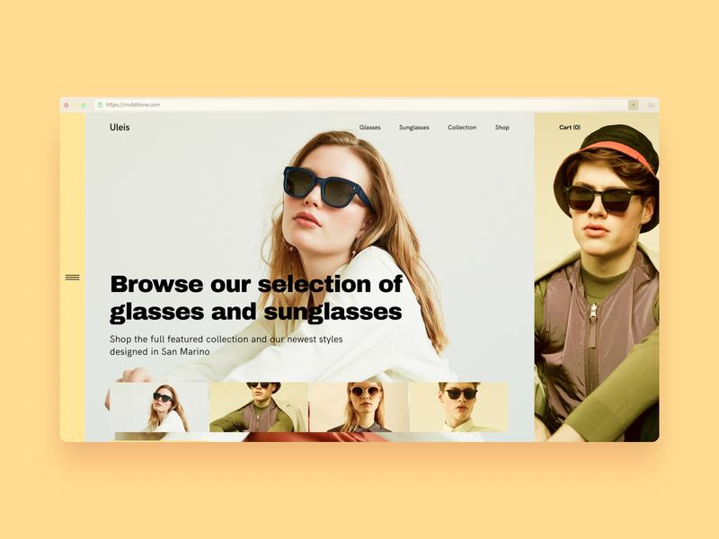 Shop Concept Hero Section shop design responsive desiginspiration user interface experience ui hero header concept shop