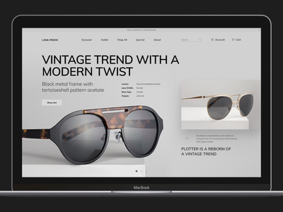 Glasses Store website concept ecommerce glasses grey grid layout hero promo responsive shop shop design store sunglasses ui typogaphy web website