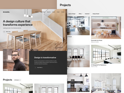 Arcworks Architects corporate ui ux concept website web design responsive