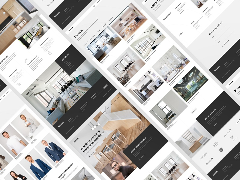 Arcworks Architects Pages corporate design hero vector ui ux web website white innerpages pages portfolio modern fullscreen clean  creative clean architecture concept