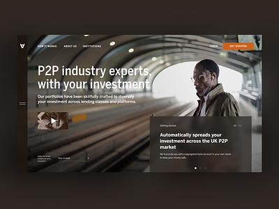 Investment Capital Shot Middltone ux shot brown graphic design website design hero p2p investment middltone corporate concept ui responsive web