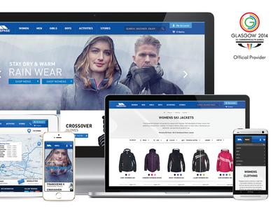 Trespass Redesign trespass ecommerce indez retail