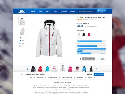 Trespass Product Page trespass ecommerce indez retail