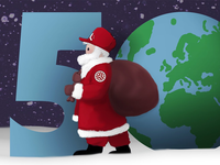 Loudon Design Swag Santa