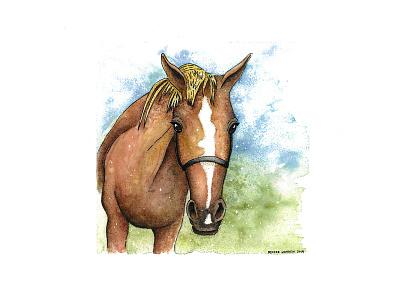 Morgan 2020 farmanimal animal horsepainting horsewatercolor horse painting watercolor illustration
