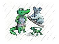 The Koala & the Lizard... google it.