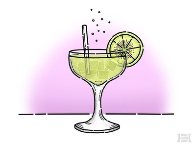 Happy National Tequila Day! beverage lime rocks ice illustration party alcohol drink tequila margarita