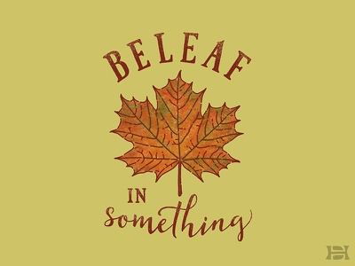 Beleaf In Something illustration digitalart digital ipadpro procreate cold seasons november leaves fall