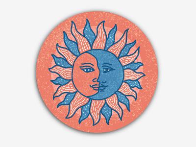 Sun moon coaster! zodiac astrology coaster moon sun