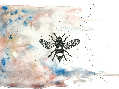 Beeeeee nice branding watercolor savethebees bee