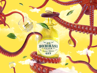 Mombasa Gin Lemon > Octopus