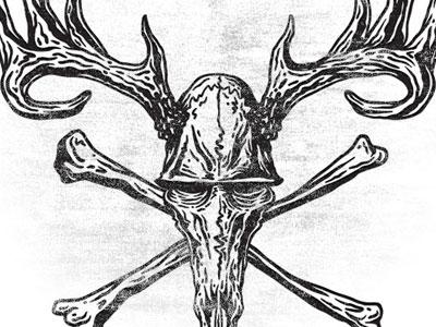 Deer Skull Crossbones By Fernando Calakka Regalado Dribbble