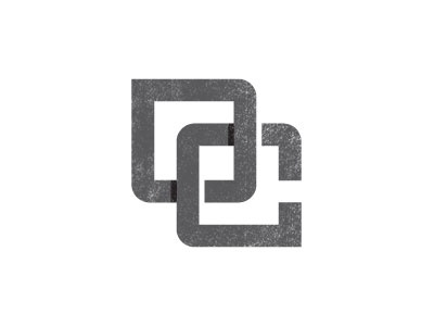 OC Monogram design vector grunge textured weathered black and white monogram text custom logo symbol
