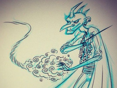 Wizard Sketch wizard dark magic evil villain rough frgraphix fernando regalado