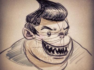 Shark Face shark character mean evil sketch doodle frgraphix fernando regalado