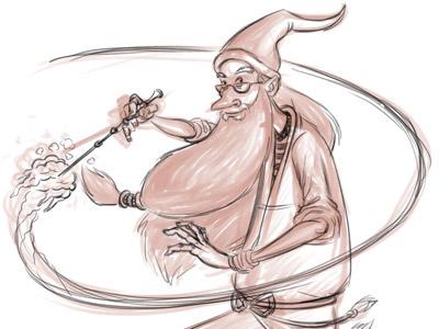 Dumbledore Sketch harry potter dumbledore wizard sketch illustration drawing doodle magic fernando regalado frgraphix