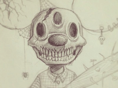 Mouse sketch doodle mouse skeleton drawing pencil