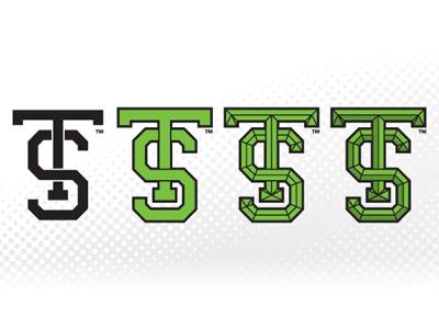 TS Build monogram initials letters type typography design vector