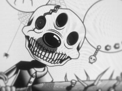 Mouse Ink wip ink vector mouse evil skull illustrator illustration