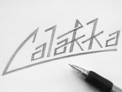 Calakka Hand Rendered type typography hand drawn lettering hand lettering graphic design hand made font design illustration sketch drawing