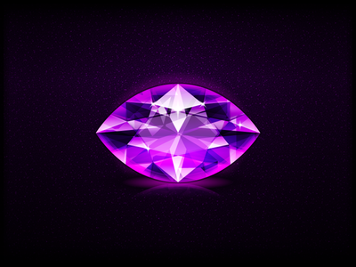 Amethyst design illustration las vegas slot casino game design symbol icon game gem jewel amethyst