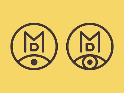 New logo monogram (monologoram) logo eye monogram