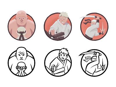 Achievement Indicator Icons icon judo-chop illustration ninja