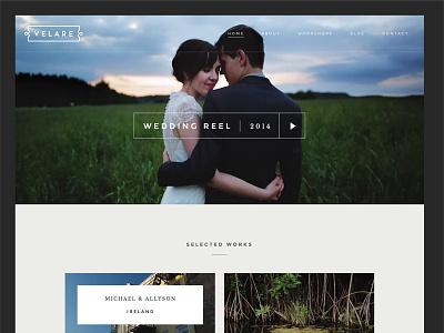 Velare Website rich people getting married modern clean web website
