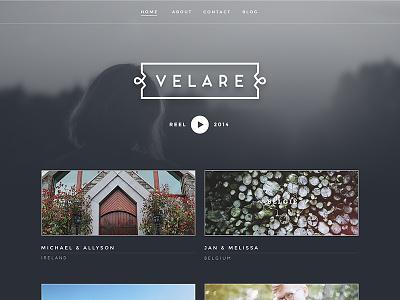 Velare Homepage Alternative rich people getting married modern clean web website