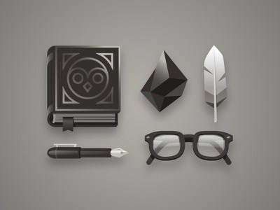 Character Kit 001: Naturalist Wizard fountain pen feather glasses gem book wizard every day carry edc character kits