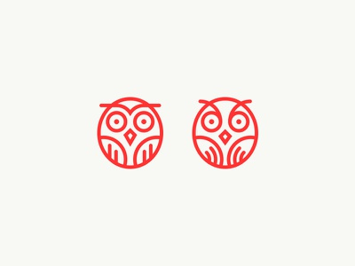 Left or right? logo owl