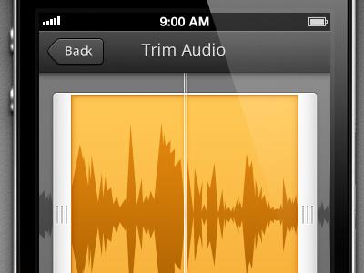 Trim Audio iphone app ios trim waveform audio
