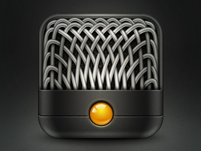 Mic Icon icon ios iphone app mic photoshop audio recording