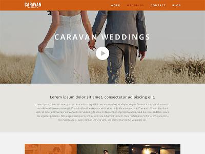 Caravan Weddings Crop website web design wedding caravan minimal