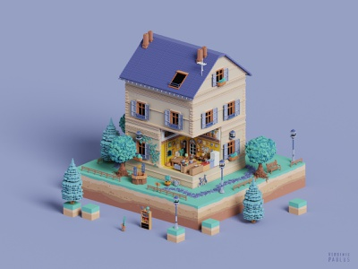 home sweet home lego toy house home colors illustration build appartment logement france haussman dollhouse tinyhouse architecture cube diorama voxelart voxel magicavoxel