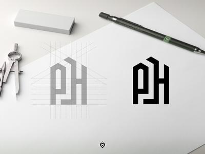 PH monogram logo concept ph logo graphic design illustration vector branding monogram logo letter initials design