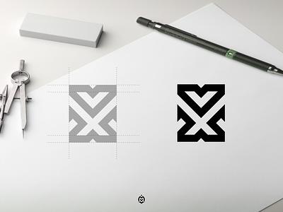VX monogram logo concept graphic design logopromotion logoroom simplelogo profesionallogo logowork logoplace beautifullogo logoinitials branding vector monogram logo letter initials vxlogo design