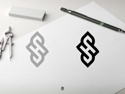 SH monogram logo concept luxurydesign consulting logogrid logoinspirations logoprofesional logoinspire graphic design branding monogram logo initials sh monogram