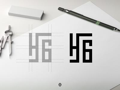 H6 monogram logo concept consulting creativelogo logobrand logogrid logoideas identity logoprofesional logoinspire graphic design design logo letter branding monogram initials h6 logo