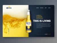 Corona beer landing page UI